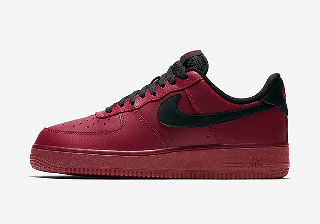 nike air force 1 low team red black