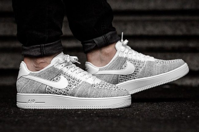 Nike Air Force 1 Ultra Flyknit Low Cool Grey 817419 006
