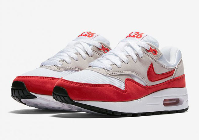nike air max 1 gs rood