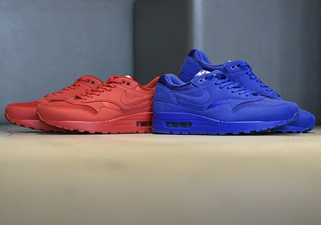 Nike Air Max 1 Premium Tonal Pack Red Blue