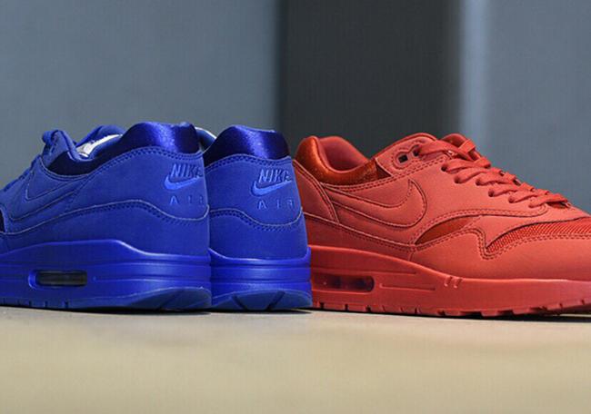 Nike Air Max 1 Premium Tonal Pack Red Blue