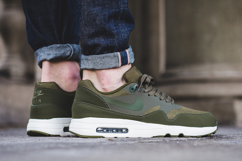 b98478658017 Nike Air Max 1 Ultra 2.0 Essential Medium Olive 875679-200 ...