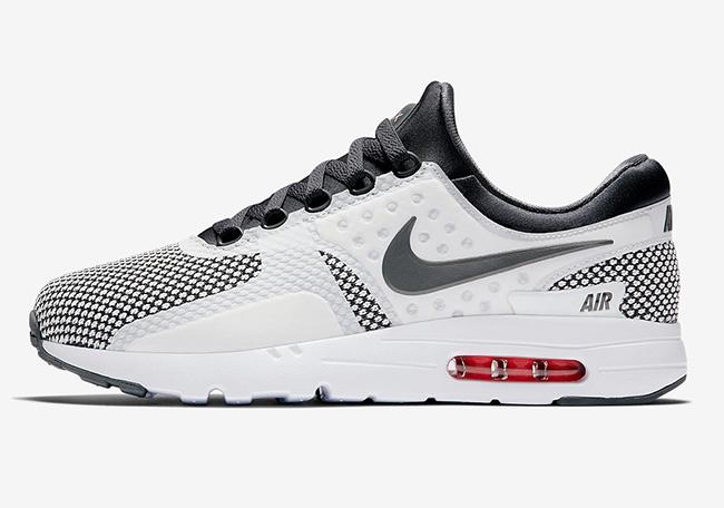 Nike Air Max Zero Dark Grey Summit White Red