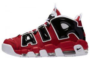 Nike Air More Uptempo Bulls Varsity Red White Black