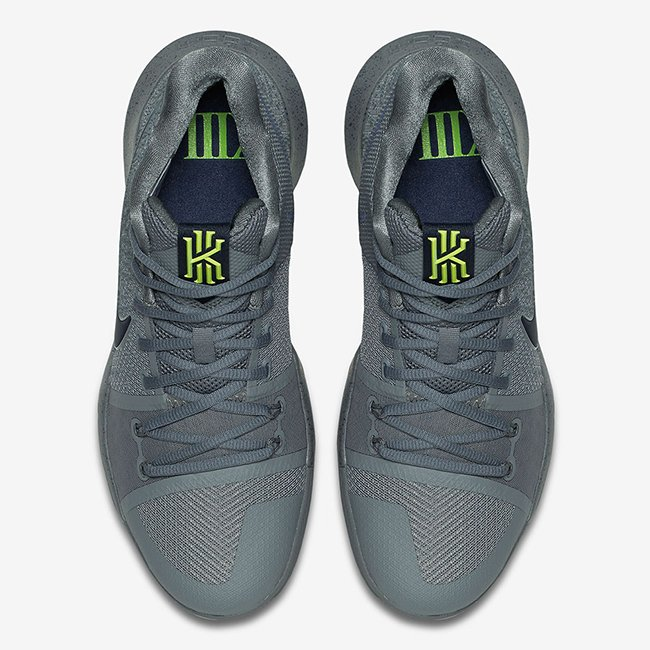 Nike Kyrie 3 Cool Grey Anthracite Polarized Blue