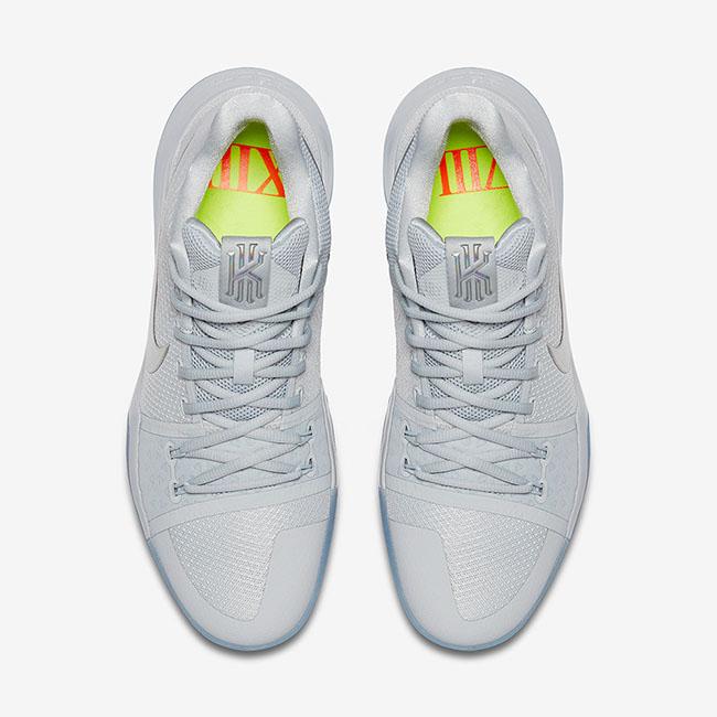 Nike Kyrie 3 Iridescent Swoosh Pure Platinum Release Date