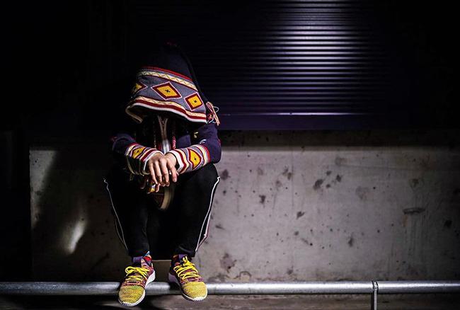 Pharrell adidas Human Race Multicolor Mexican Blanket On Feet