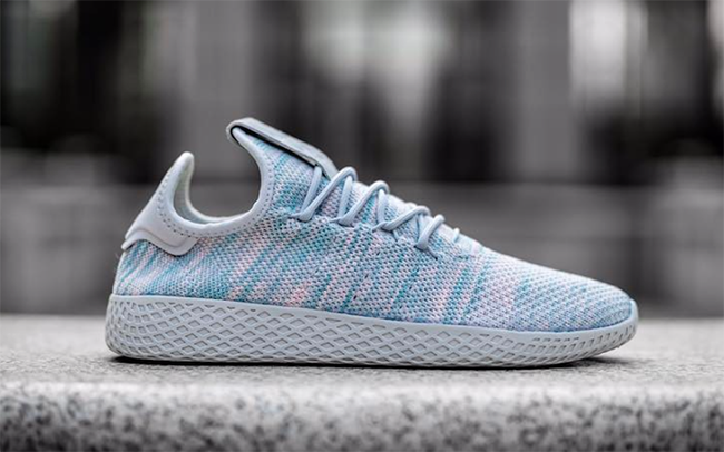 Pharrell adidas Human Race White Blue Pink