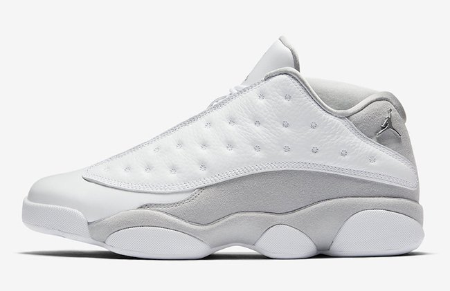 Pure Platinum Air Jordan 13 Low