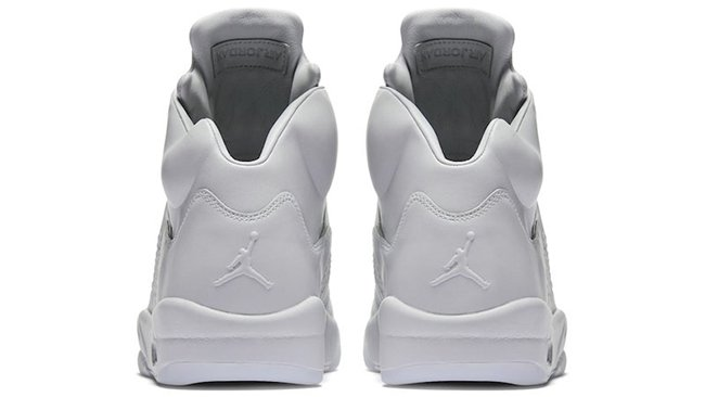 Pure Platinum Air Jordan 5 Premium