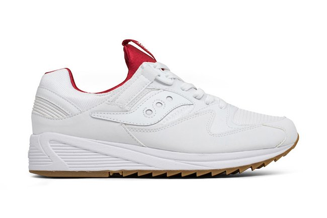 Saucony Grid 8500 White Red Gum
