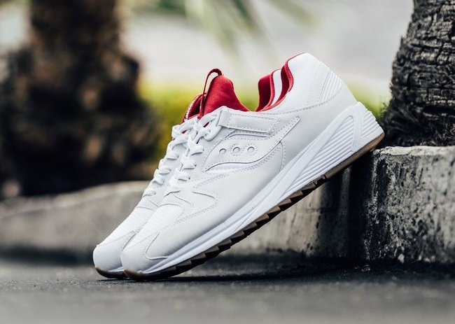 43771472e644 Saucony Grid 8500 White Red Gum