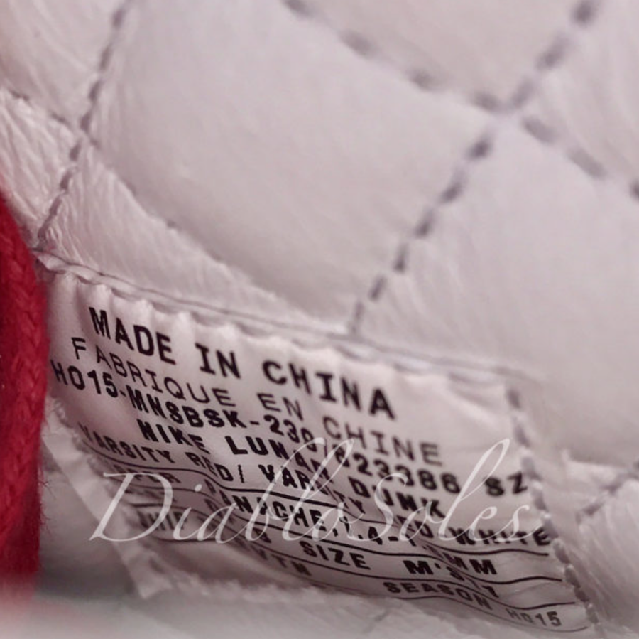 Supreme Nike Dunk High Red Leather White Wool