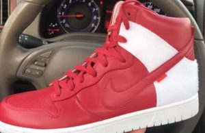 Supreme Nike Dunk High Red White