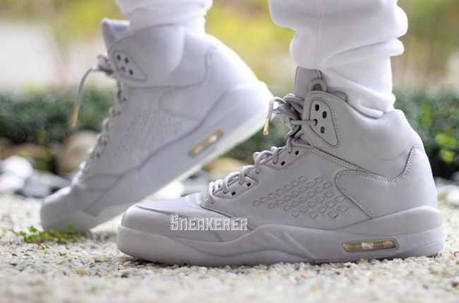 Take Flight Air Jordan 5 Triple White On Feet