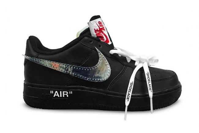 c330f0d2f2a9b Off-White Nike Air Force 1 Low Black Metallic Silver | SneakerFiles