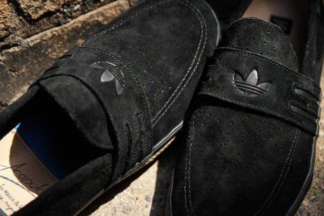 quality design 68abf 91350 adidas Acapulco Black Suede