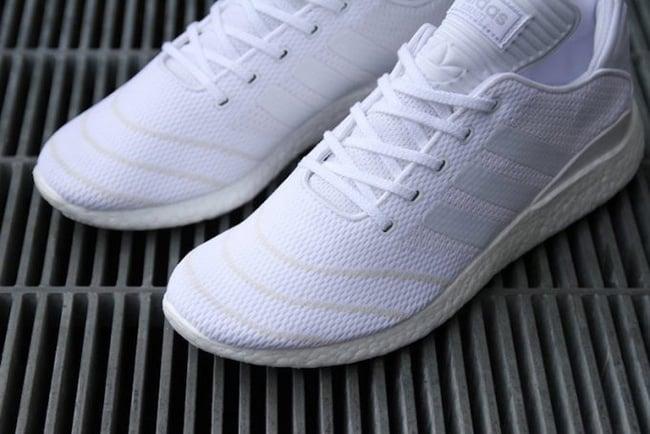 newest 22f9e f17aa adidas Busenitz Pure Boost Primeknit Triple White
