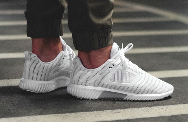 adidas ClimaCool 2017 Triple White On Feet
