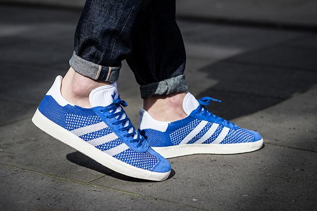 best sneakers f1020 1038e adidas Gazelle Primeknit Red Blue Grey