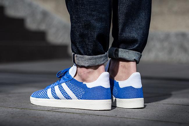 adidas Gazelle Primeknit Red Blue Grey