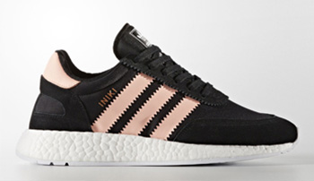 adidas Iniki Runner Boost Core Black Haze Coral