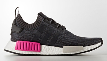 adidas NMD R1 Womens Black Shock Pink