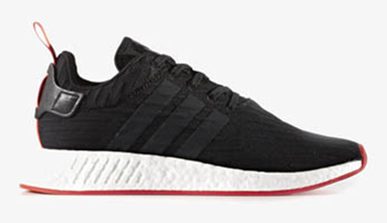 adidas NMD R2 Primeknit Black Core Red