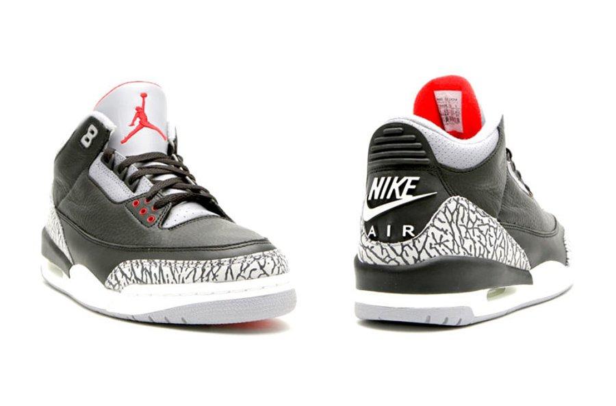 Air Initial Jordan 3 Ciment Noir