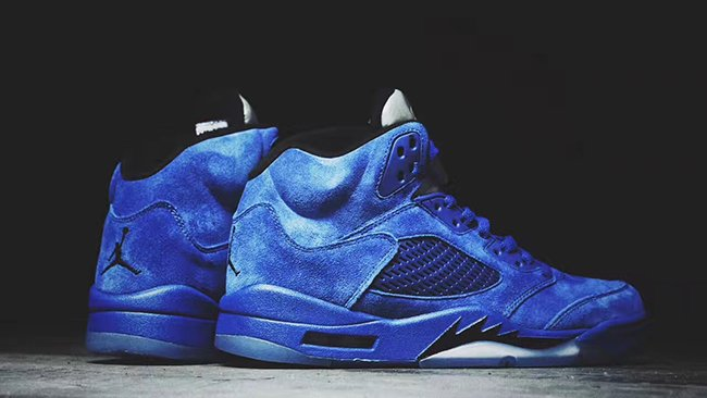 Air Jordan 5 Blue Suede 136021-401