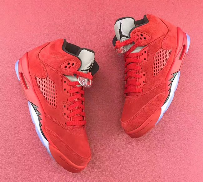 Air Jordan 5 GS University Red Suede