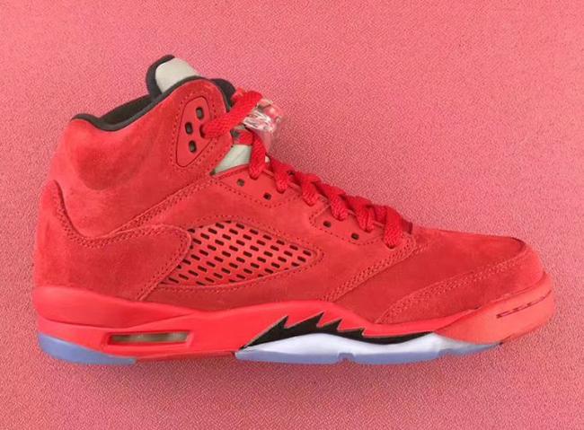 Air Jordan 5 GS University Red Suede