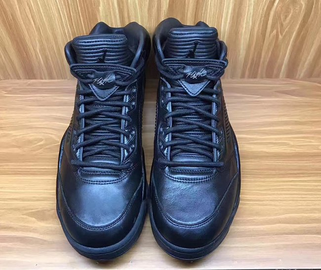 Air Jordan 5 Premium Triple Black Release Date
