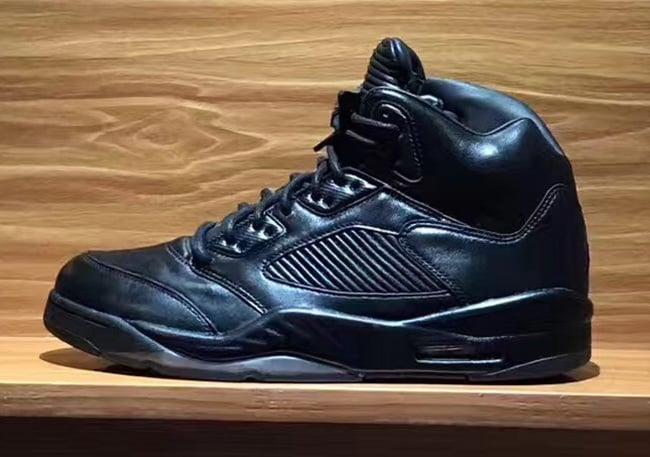 be884d9aacd4 Air Jordan 5 Premium Triple Black Release Date