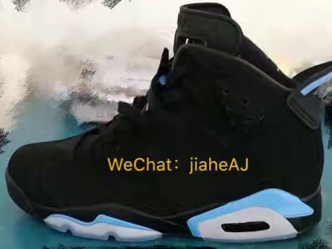 Air Jordan 6 Black University Blue