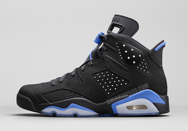 4607886fba71 Air Jordan 6 UNC Black University Blue 384664-006 Release Date ...