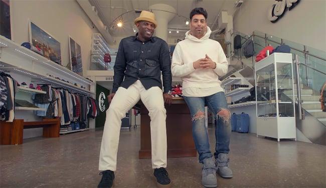 Deion Sanders Sneaker Shopping