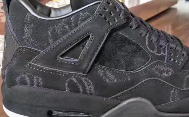 KAWS Air Jordan 4 Black Suede Sample