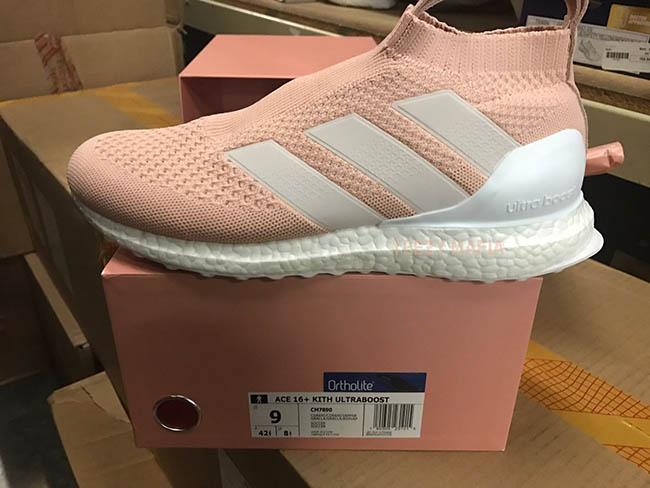 Kith x adidas ACE 16 Ultra Boost Vapour Pink
