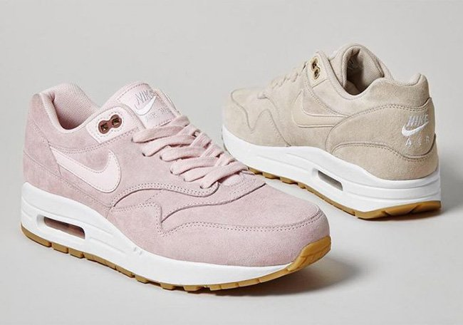 Nike Air Max 1 Suede Pack Pink Oatmeal