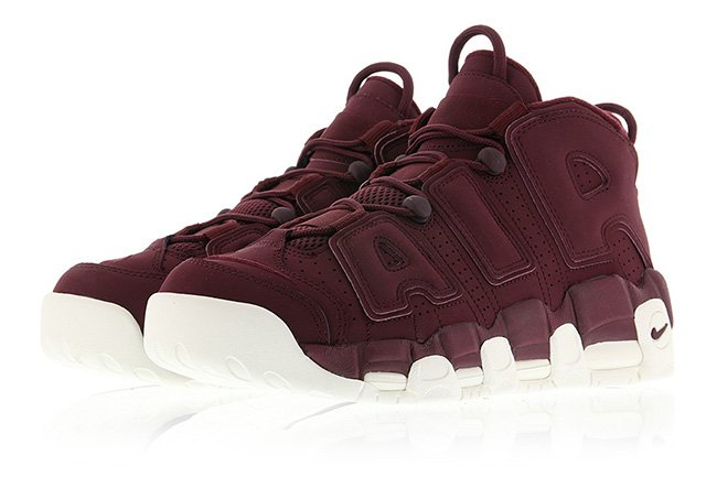 nike air more uptempo bordeaux
