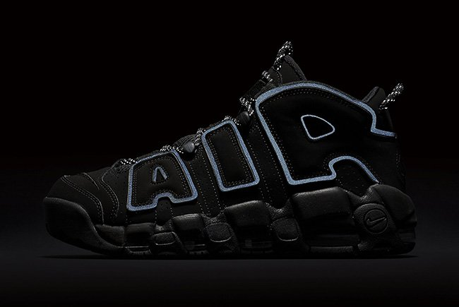 Nike Air More Uptempo Triple Black 3M 2018