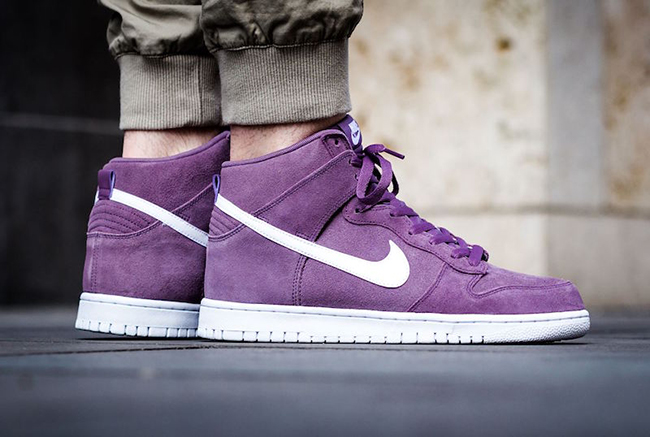 Nike Dunk High Violet Dust White