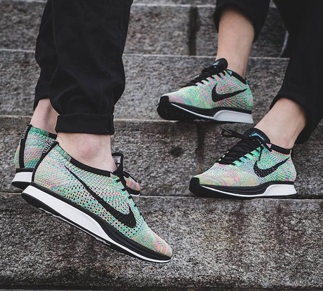 Nike Flyknit Racer Multicolor 2.0 On Feet