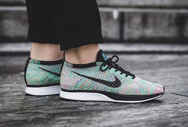 classic fit f356c d3e11 Nike Flyknit Racer Multicolor 2.0 On Feet