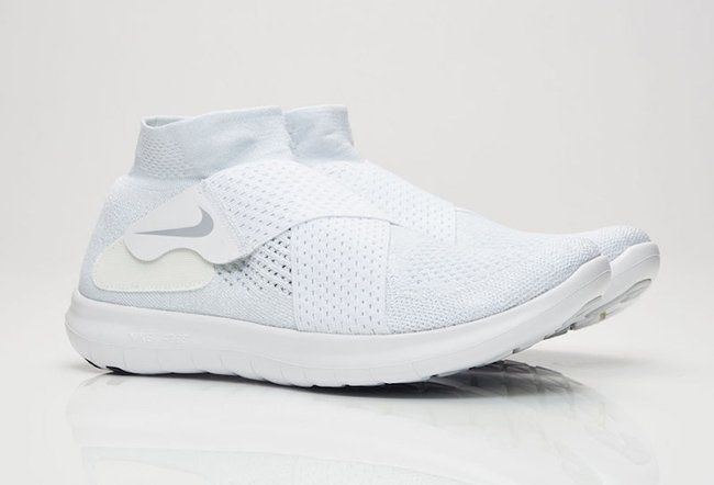 Nike Free Run Motion Flyknit 2 Triple White 880845 100 Sneakerfiles