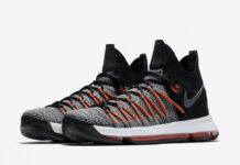 Nike KD 9 Elite Black White Dark Grey Hyper Orange 878637-010