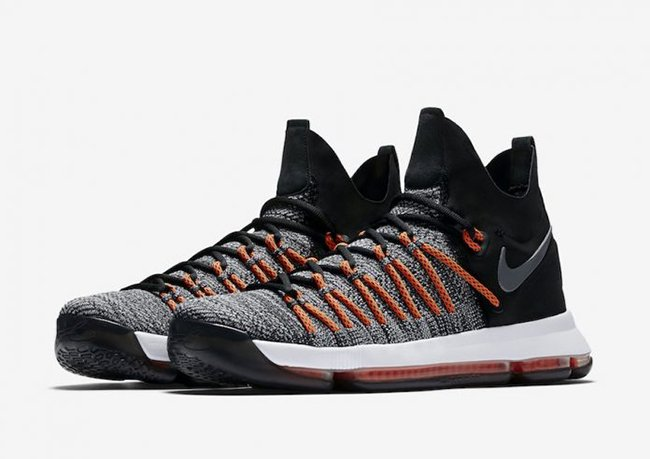 Nike KD 9 Elite Black White Dark Grey Hyper Orange 878637-010