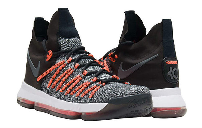 6534929810cb3 Nike KD 9 Elite Dark Grey Hyper Orange 878637-010 Release Date ...