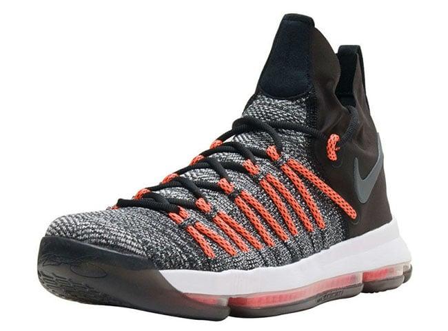 7a93767b429 Nike KD 9 Elite Dark Grey Hyper Orange 878637-010 Release Date ...